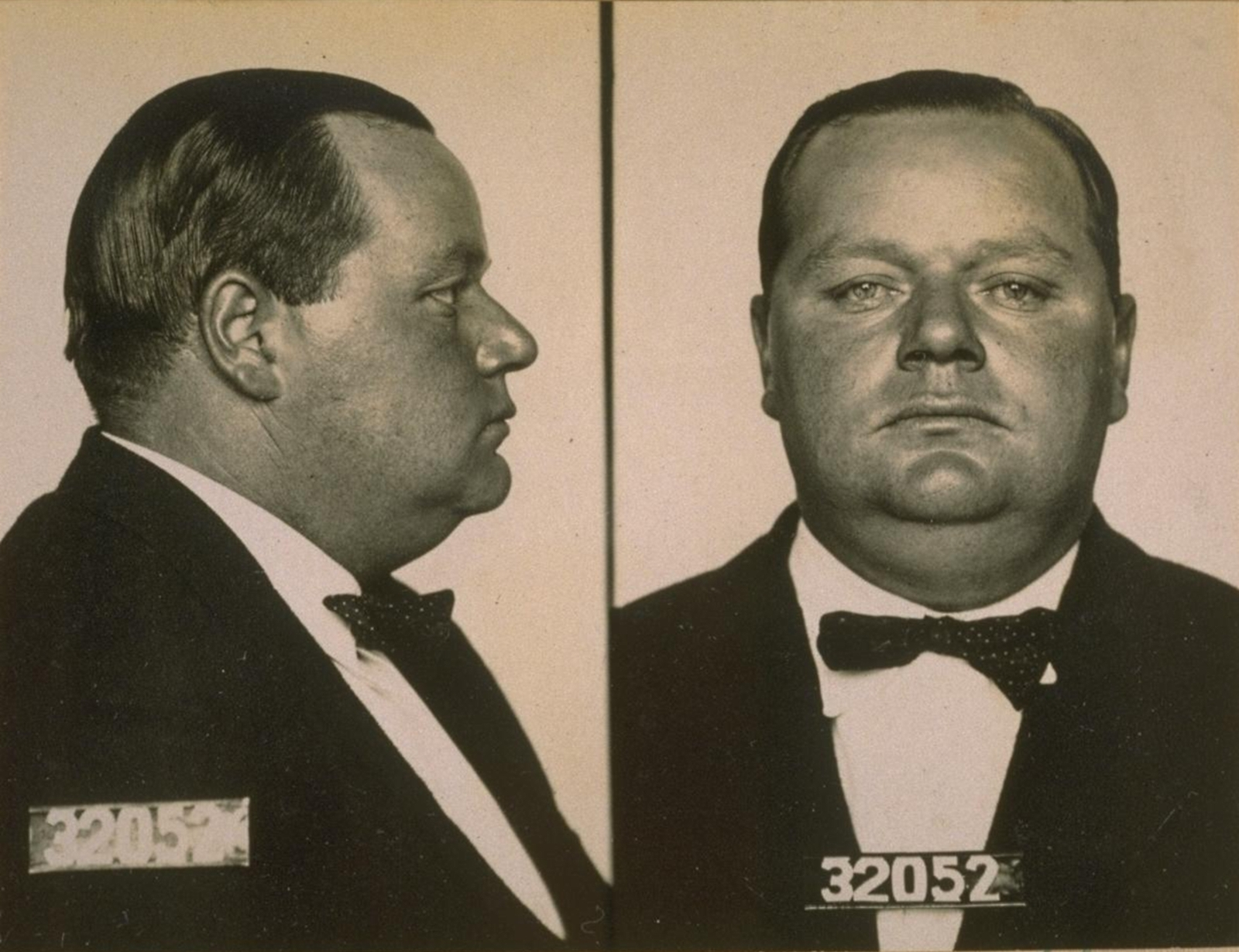 Arbuckle's Mug Shot 1921