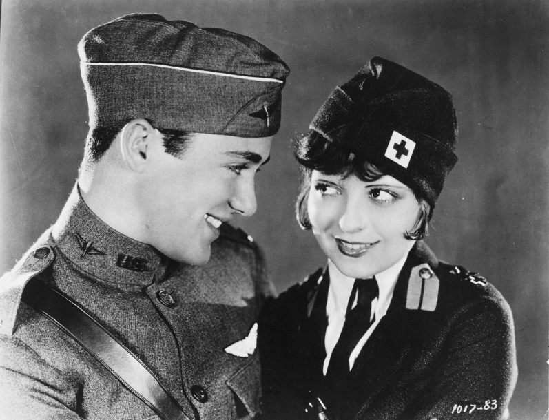 "Clara Bow and Charles ""Buddy"" Rogers in Wings, 1927"