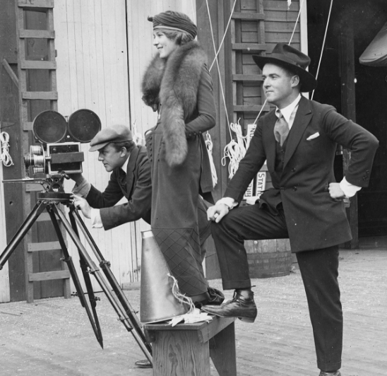 Marshall Neilan and Mary Pickford on set, c. 1920's | Photo via the Mary Pickford Foundation