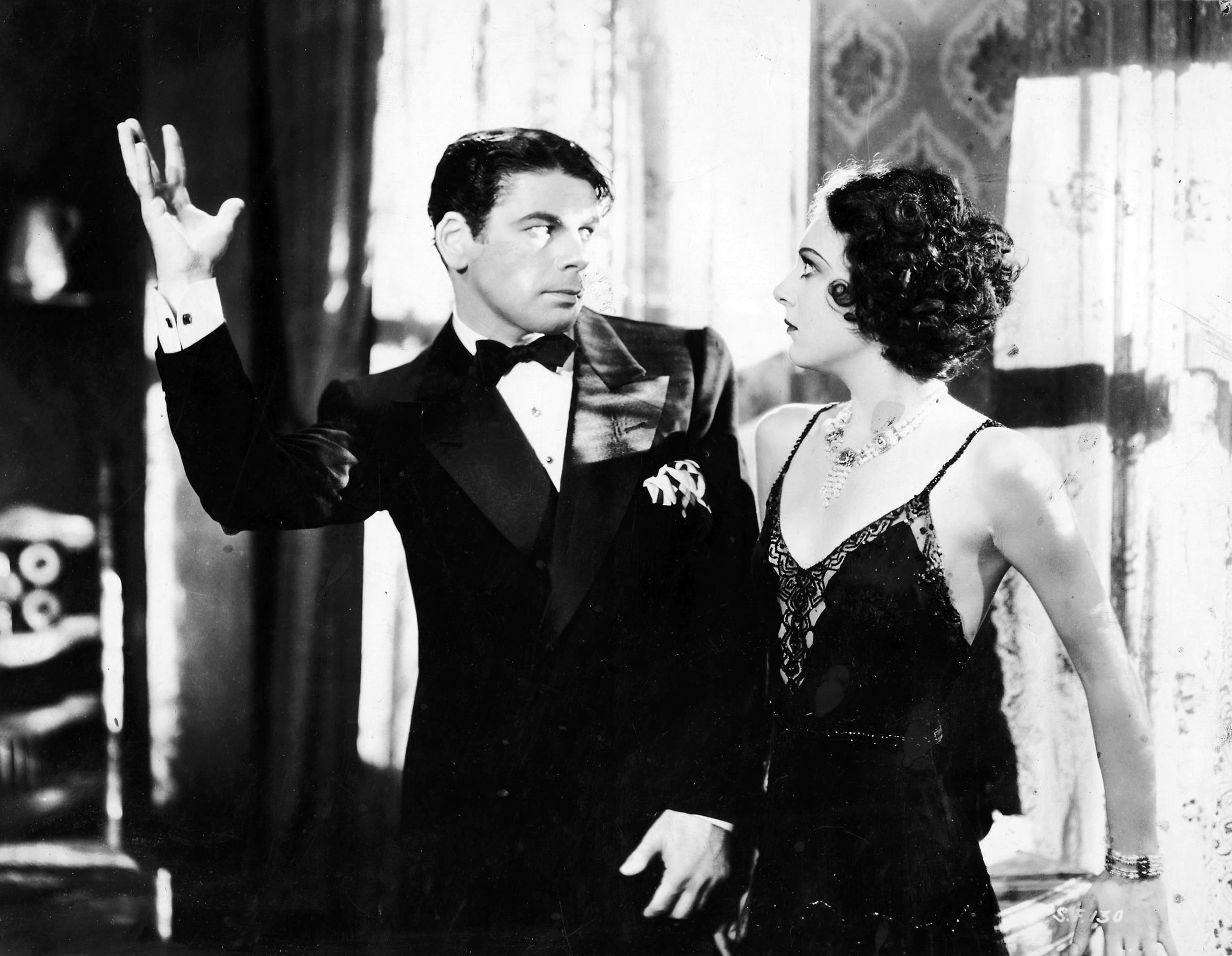Paul Muni and Ann Dvorak and in  Scarface , 1932
