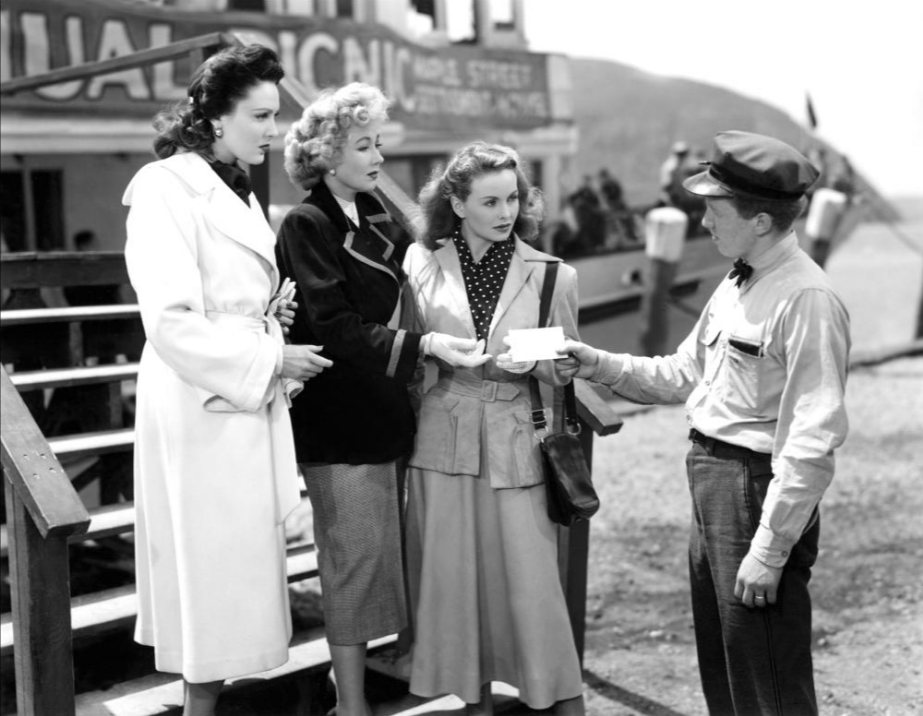 Linda Darnell, Jeanne Crain, Ann Sothern, and John Venn in  A Letter to Three Wives , 1949