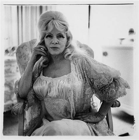 Mae West, shot by Diane Arbus, c. 1965