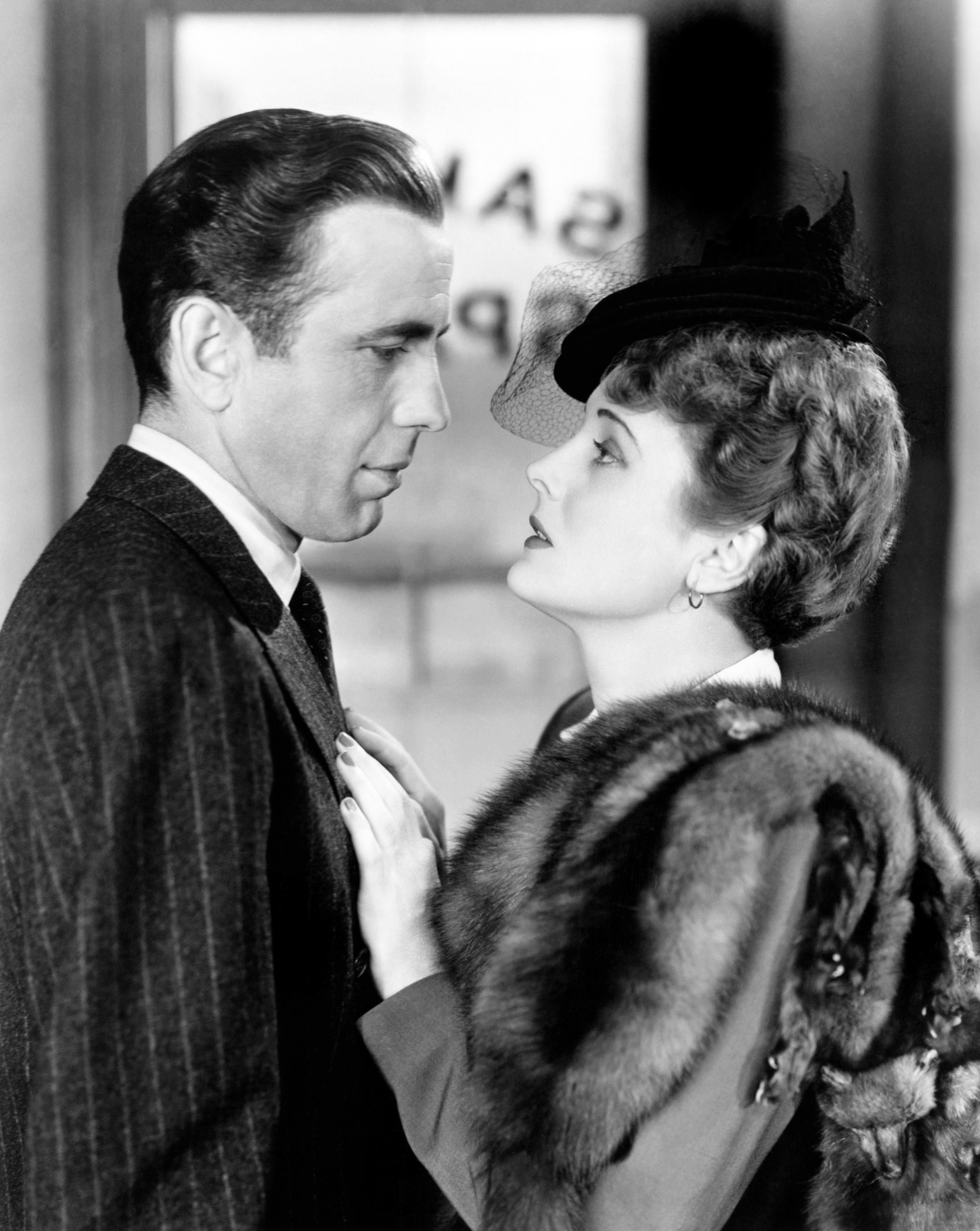 Mary Astor and Humphrey Bogart in The Maltese Falcon, 1941