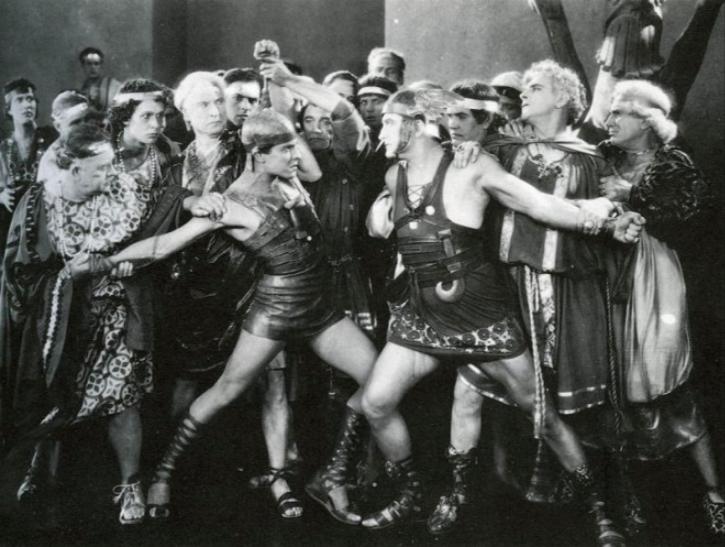 Ramon Novarro, Francis X Bushman, and Kathleen Key in  Ben Hur: A Tale of the Christ , 1925