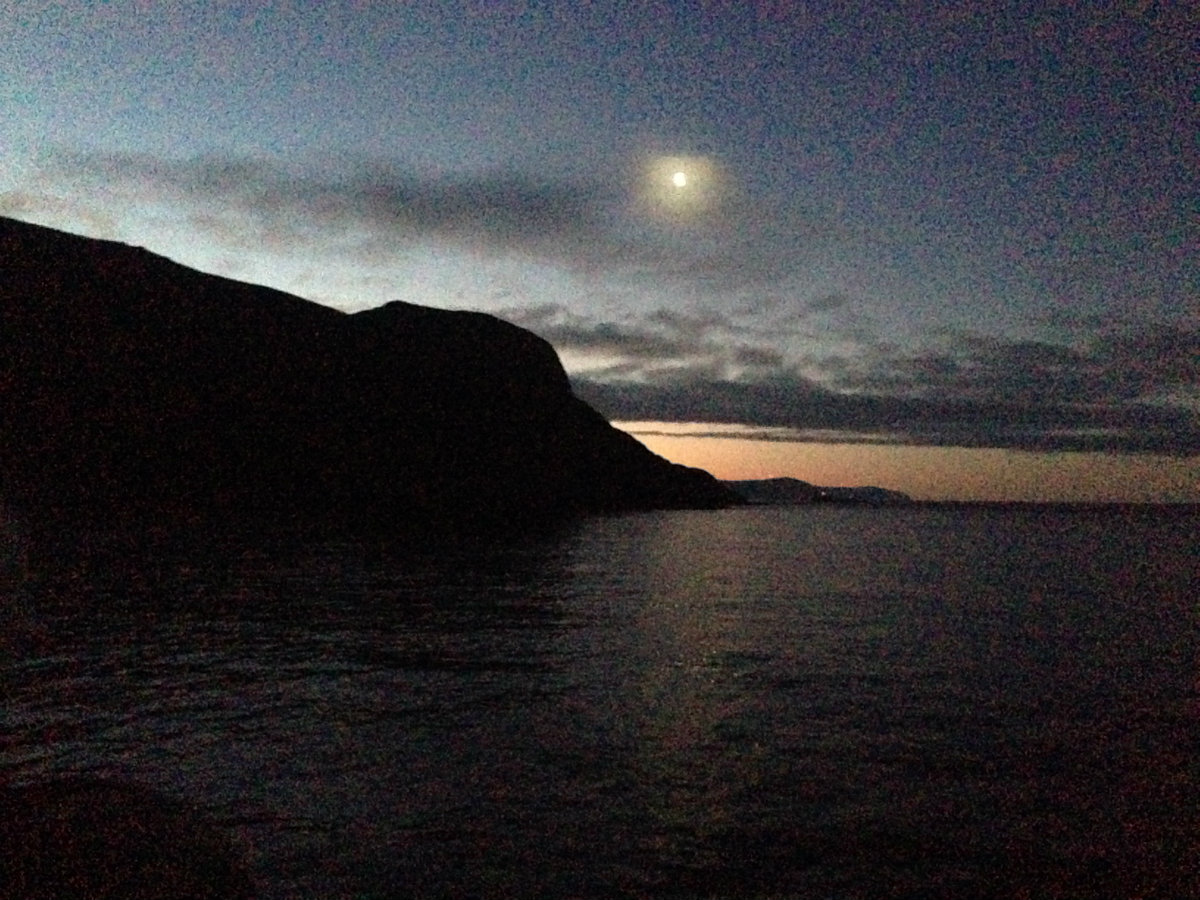 Moonrise over West Cape