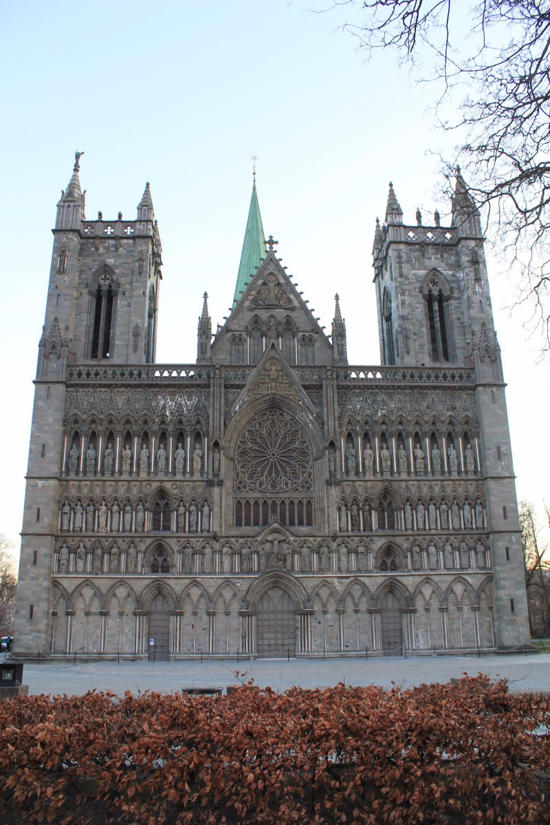 Western facade of Nidaros Cathedral