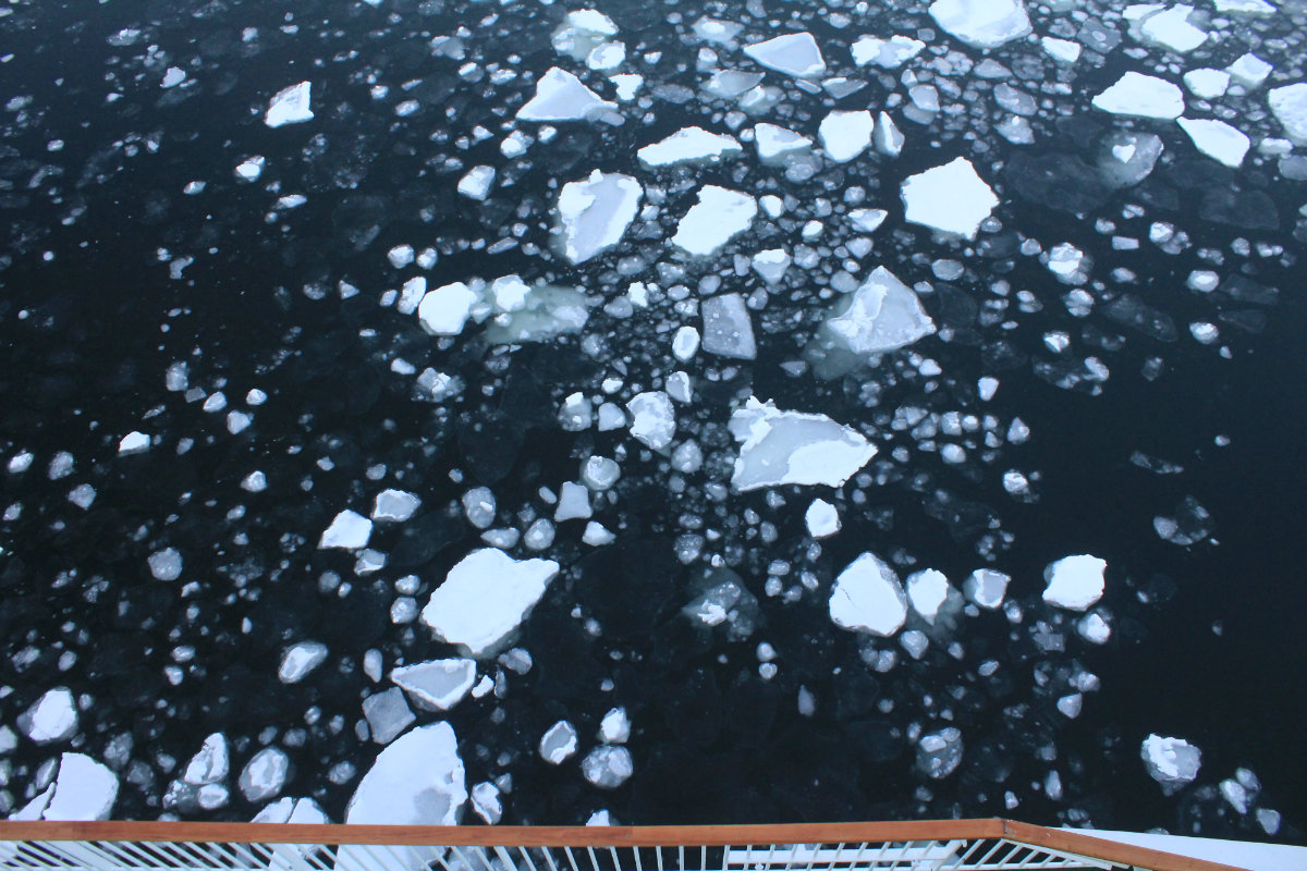 Ice in Kirkenes Harbour