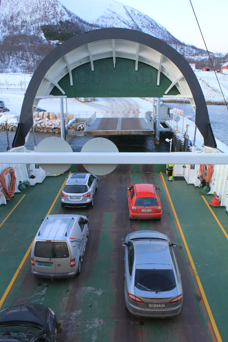 Car ferry across the Gullesfjord