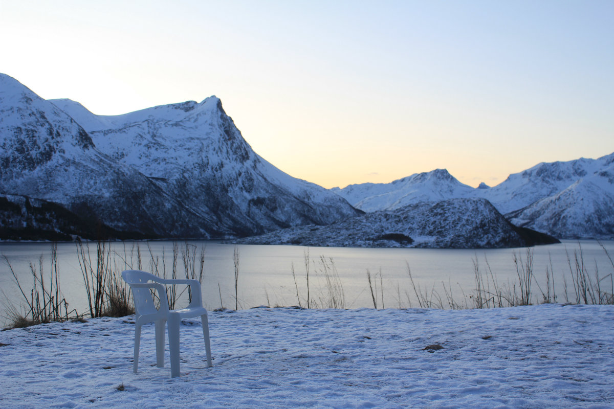 The contemplation chair at Langvatnet