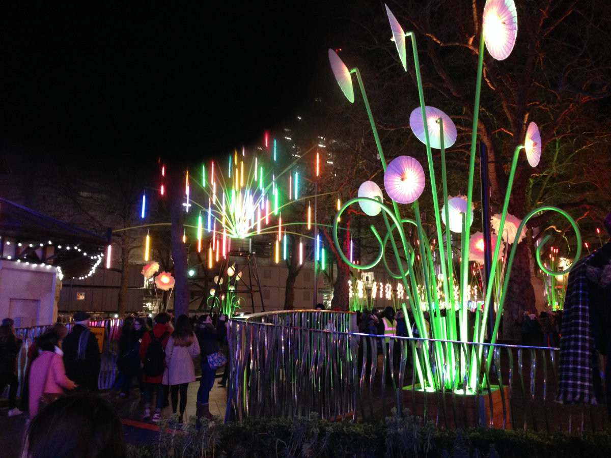 The Light Garden at Leicester Square