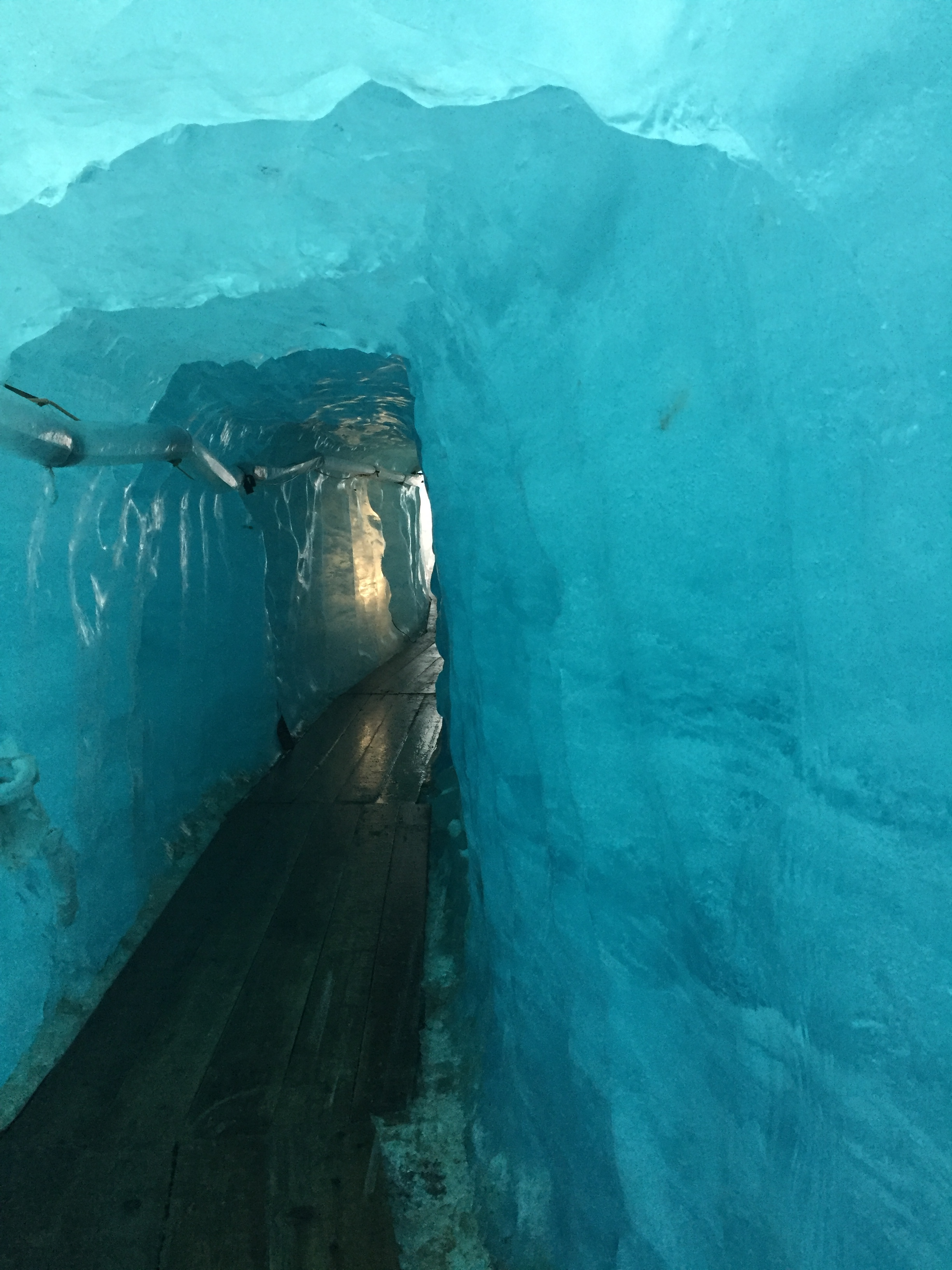 The Ice Grotto deep inside the glacier
