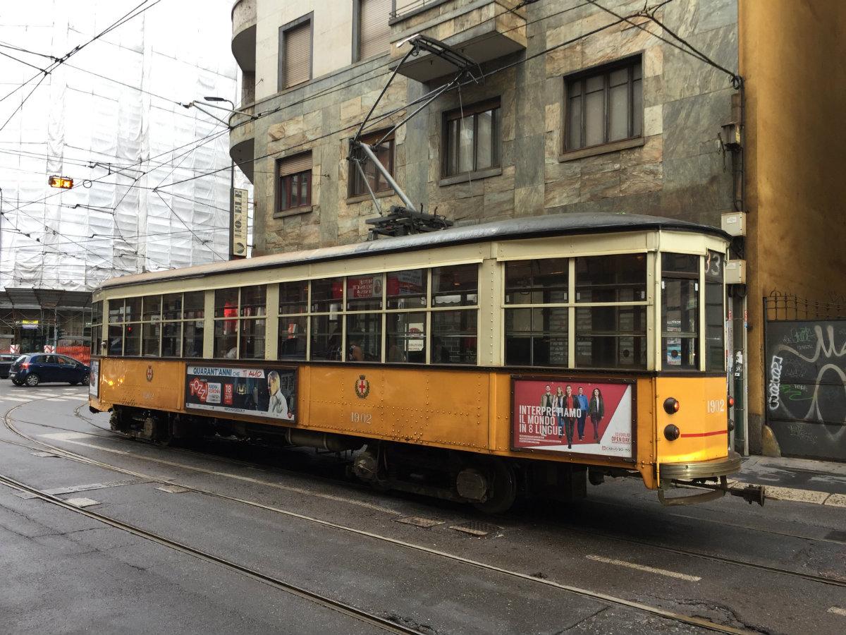 The delightful vintage trams of Milan