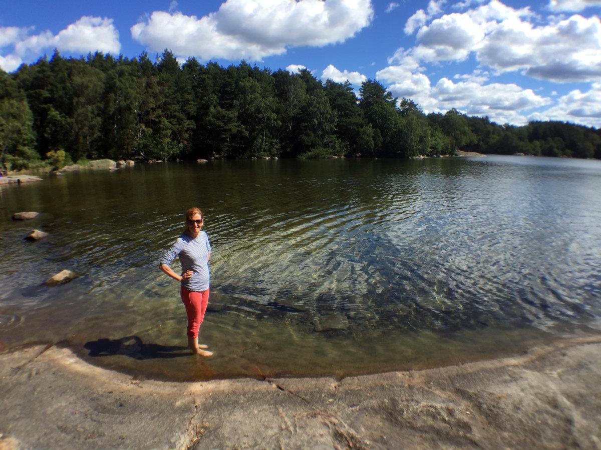 Paddling in Sisjön