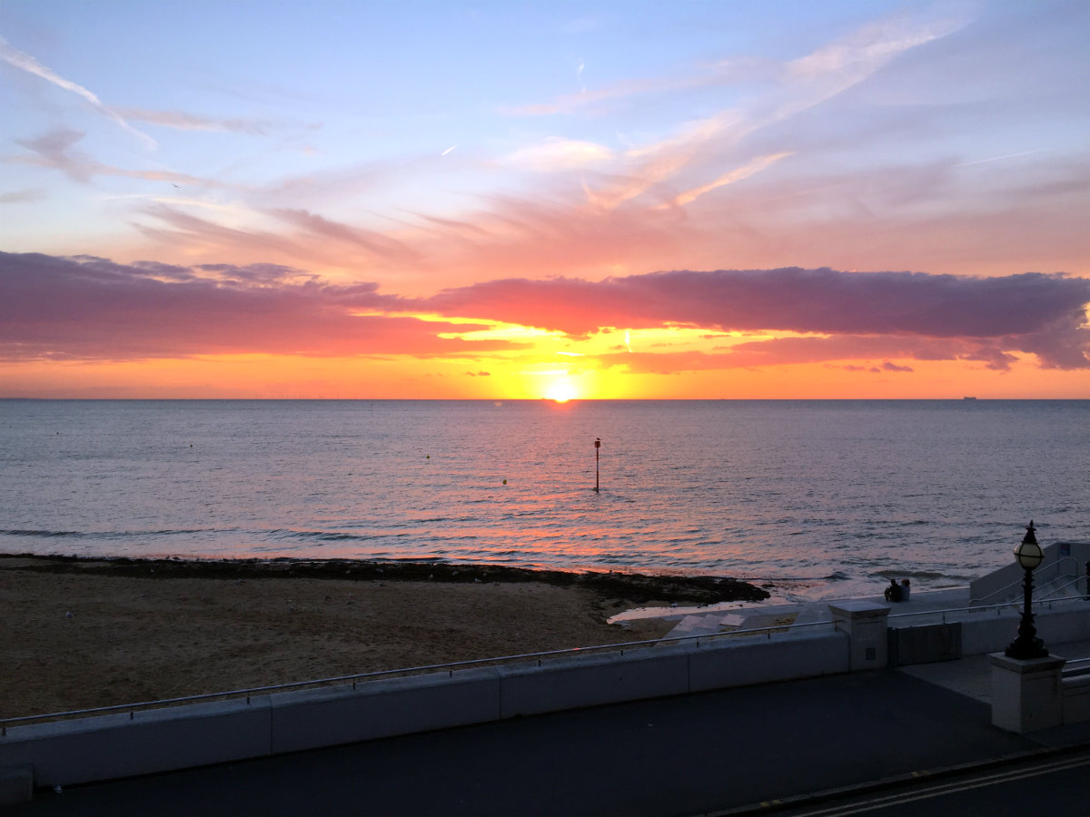 Another sunset from the restaurant terrace in Margate
