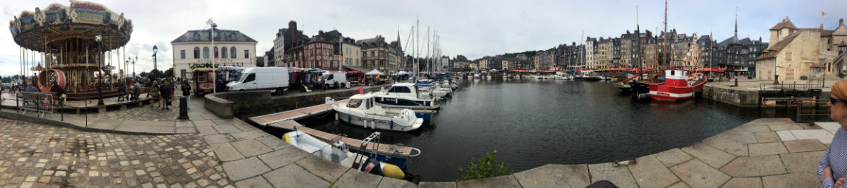 The beautiful town of Honfluer.