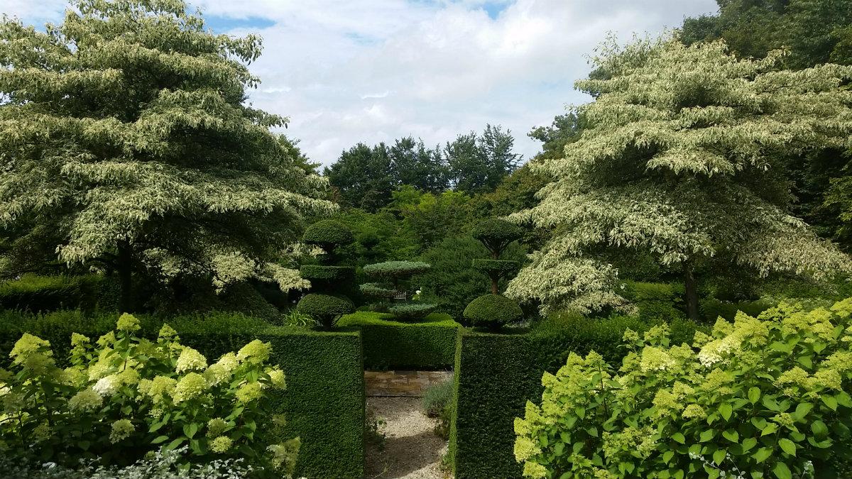The topiary room at Jardins de Castillon