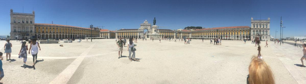 The Praça do Comércio on the Lisbon waterfront.