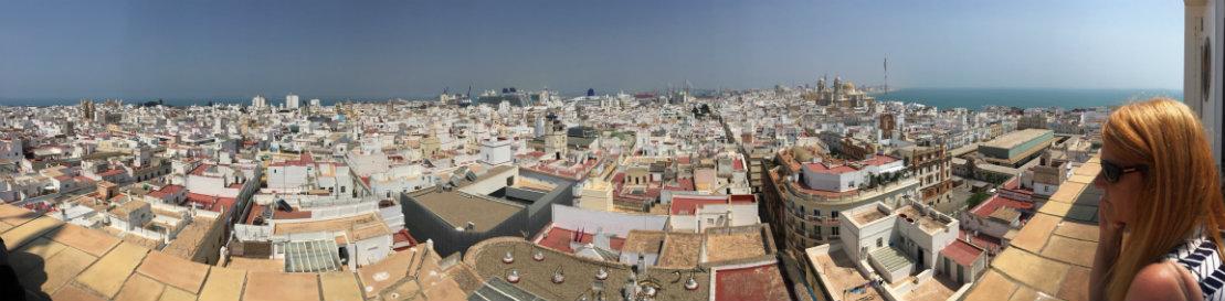 The rooftops of Cadiz.