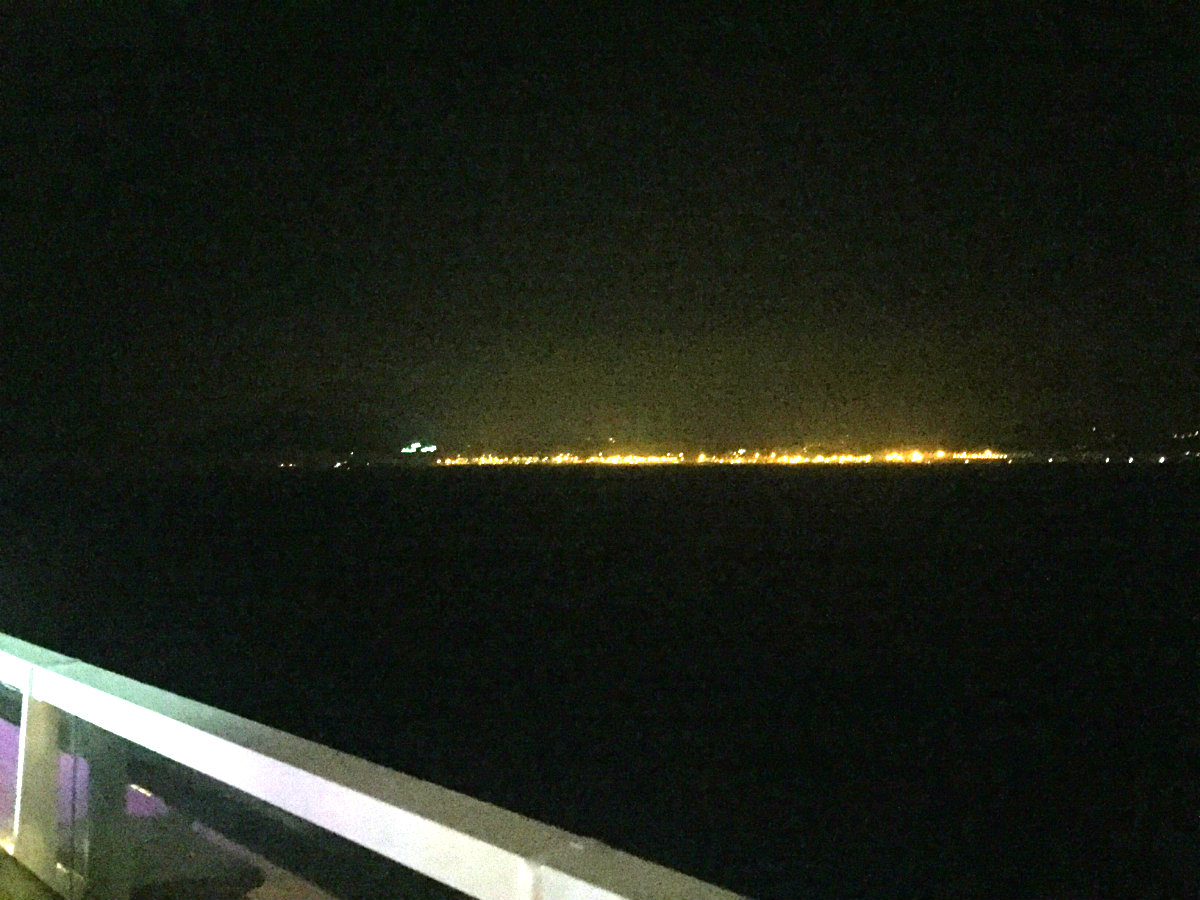 The lights of Tangier.
