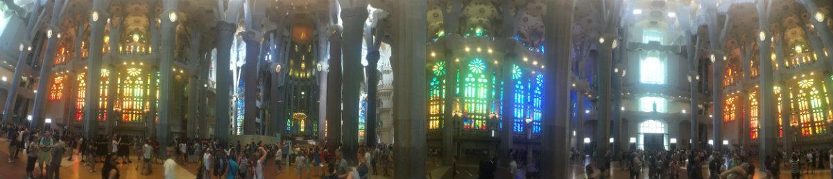 360 degrees of the interior of La Sagrada Familia