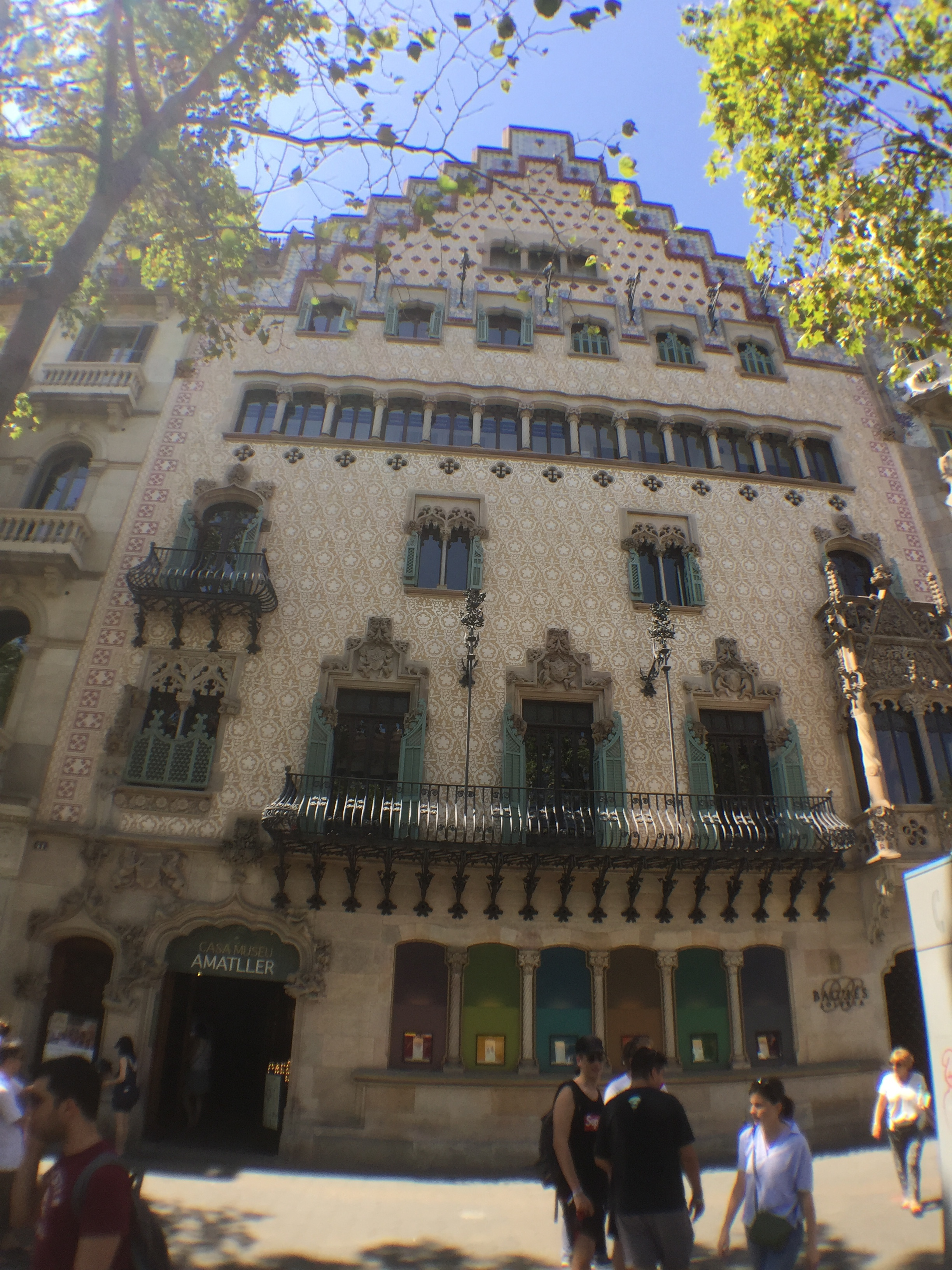 Casa Amatller. If you go inside to the cafe at the back you can see the rear of Casa Battlo