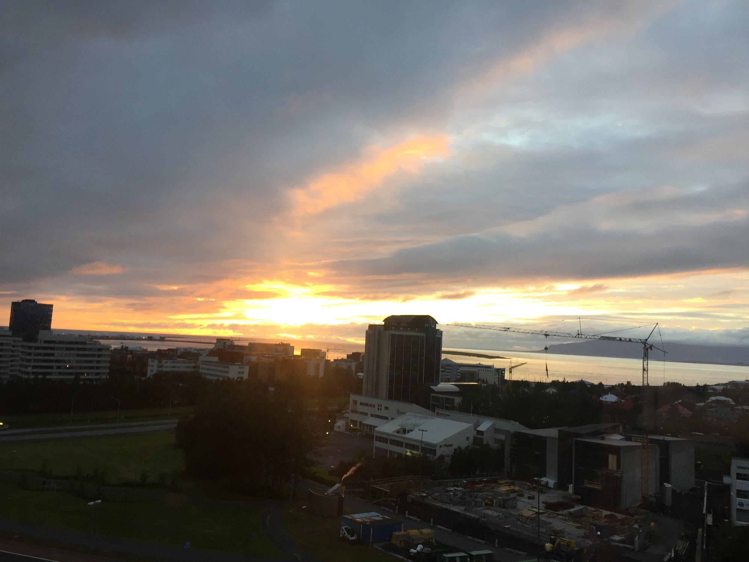 Sunset over Reykjavik - at 11:30pm!