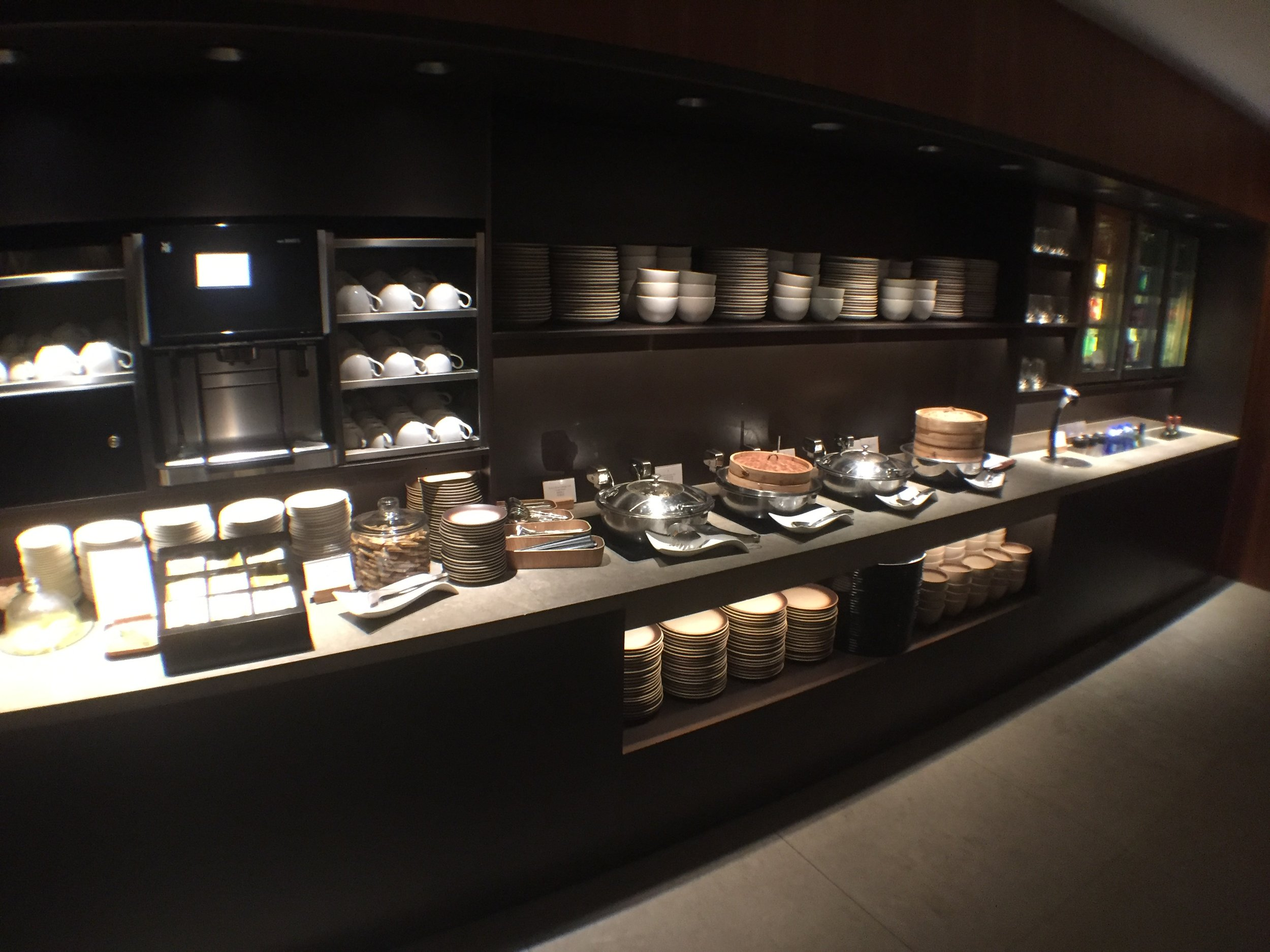 The Pier business class lounge. More awesome Cathay Pacific food.