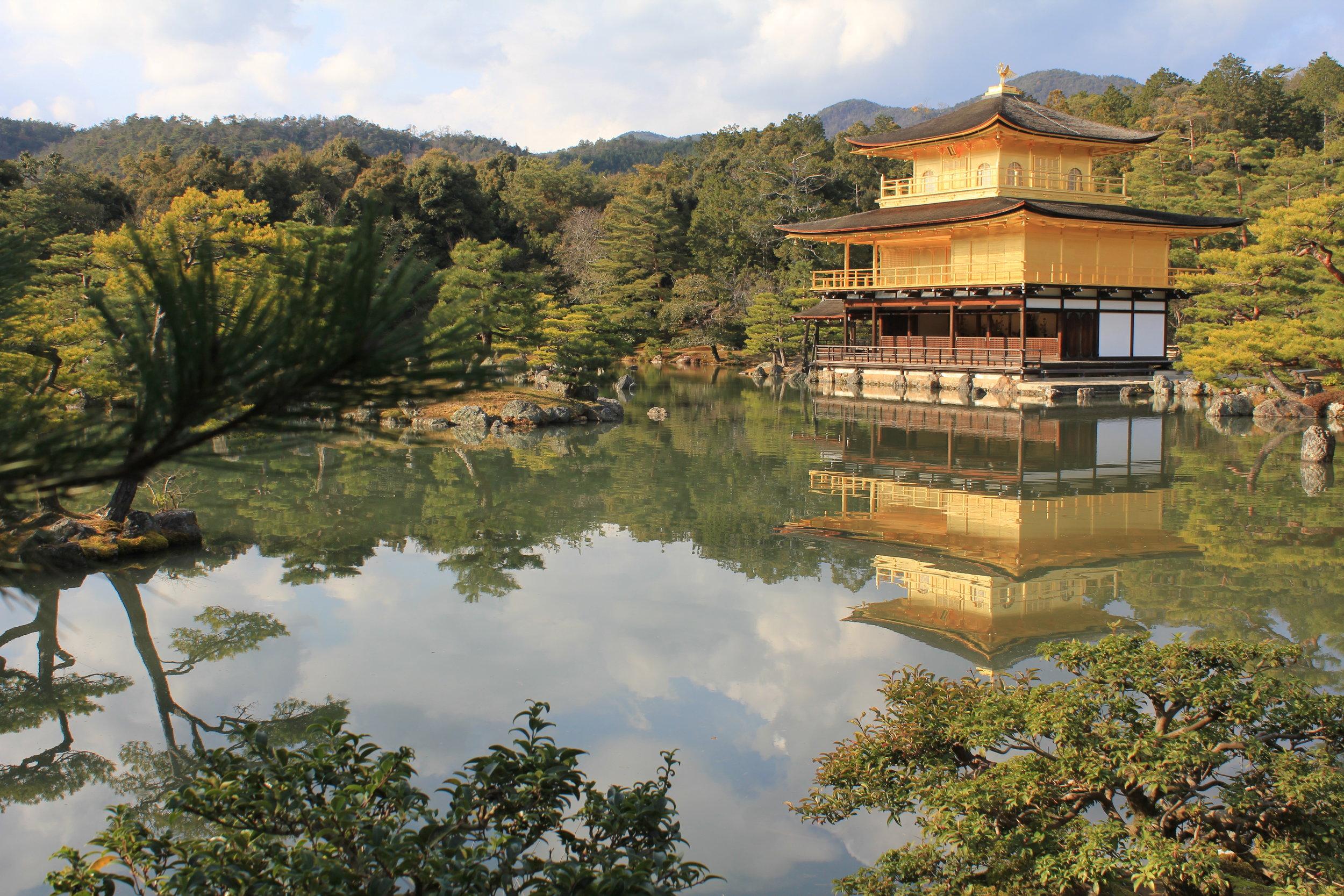 The glorious Kinkaku-ji (Golden Pavilion) in Kyoto, Japan