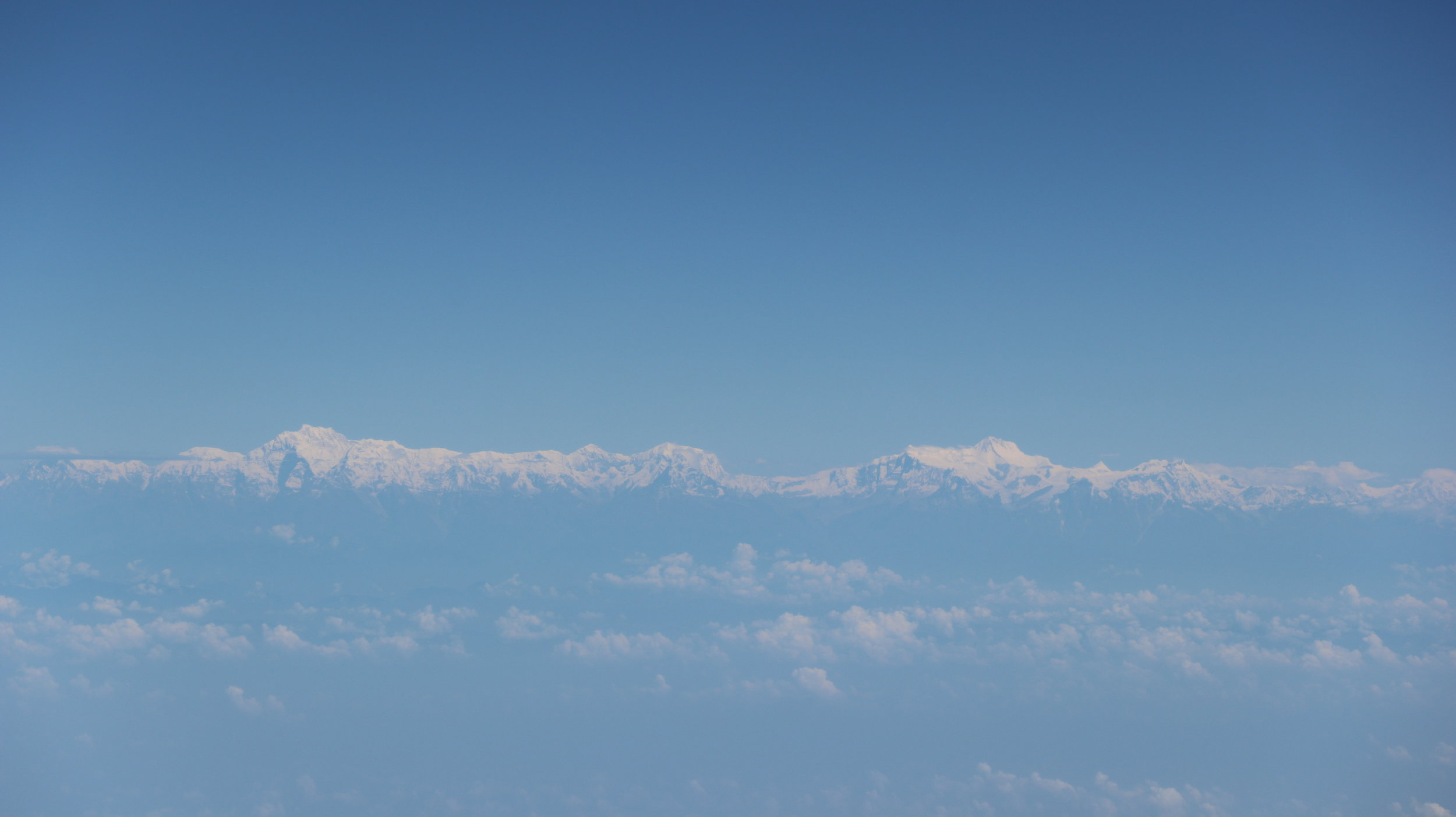 Mt Everest is on the right