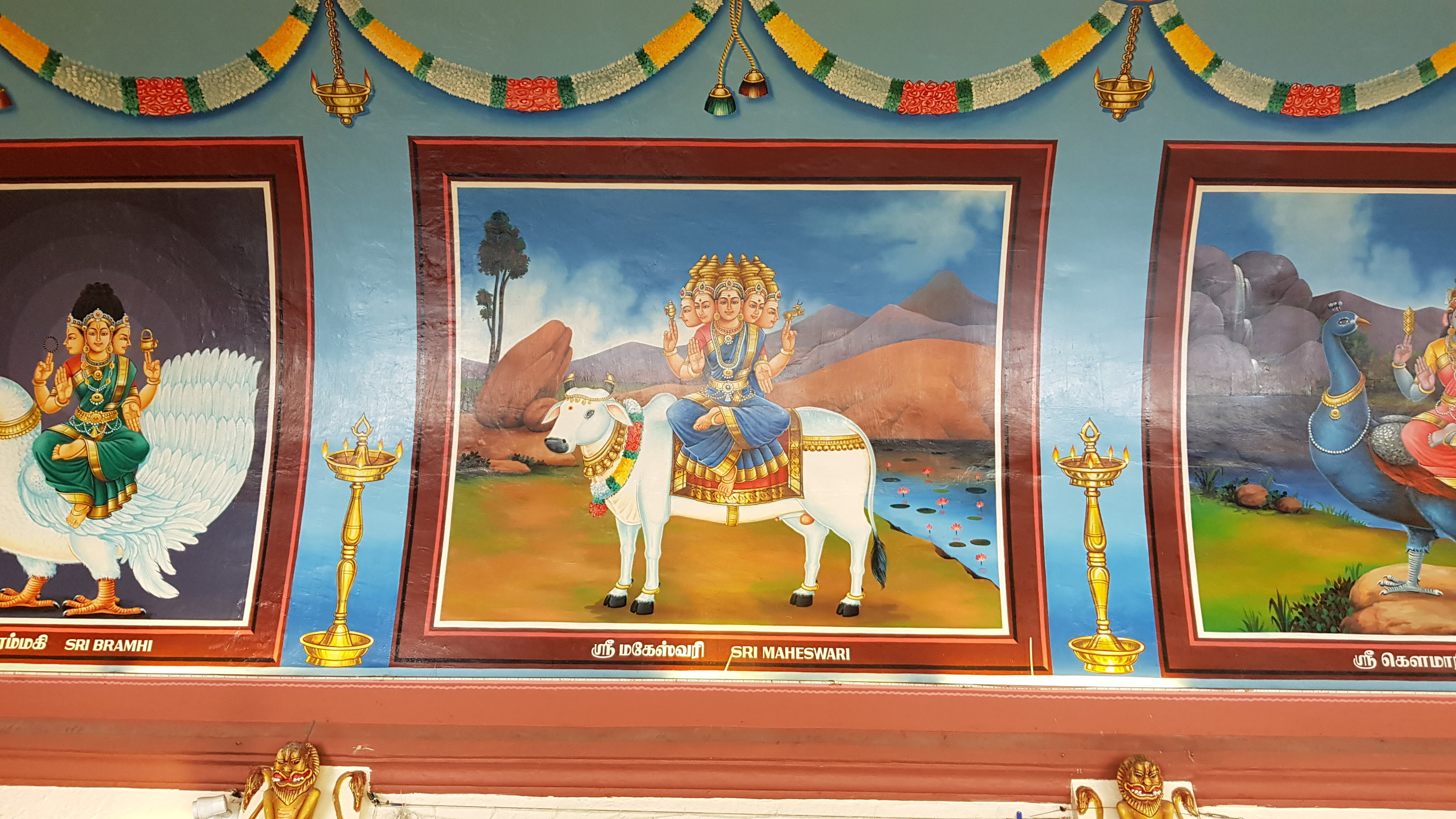 If Sri Maheswari has five heads, can she see everything?