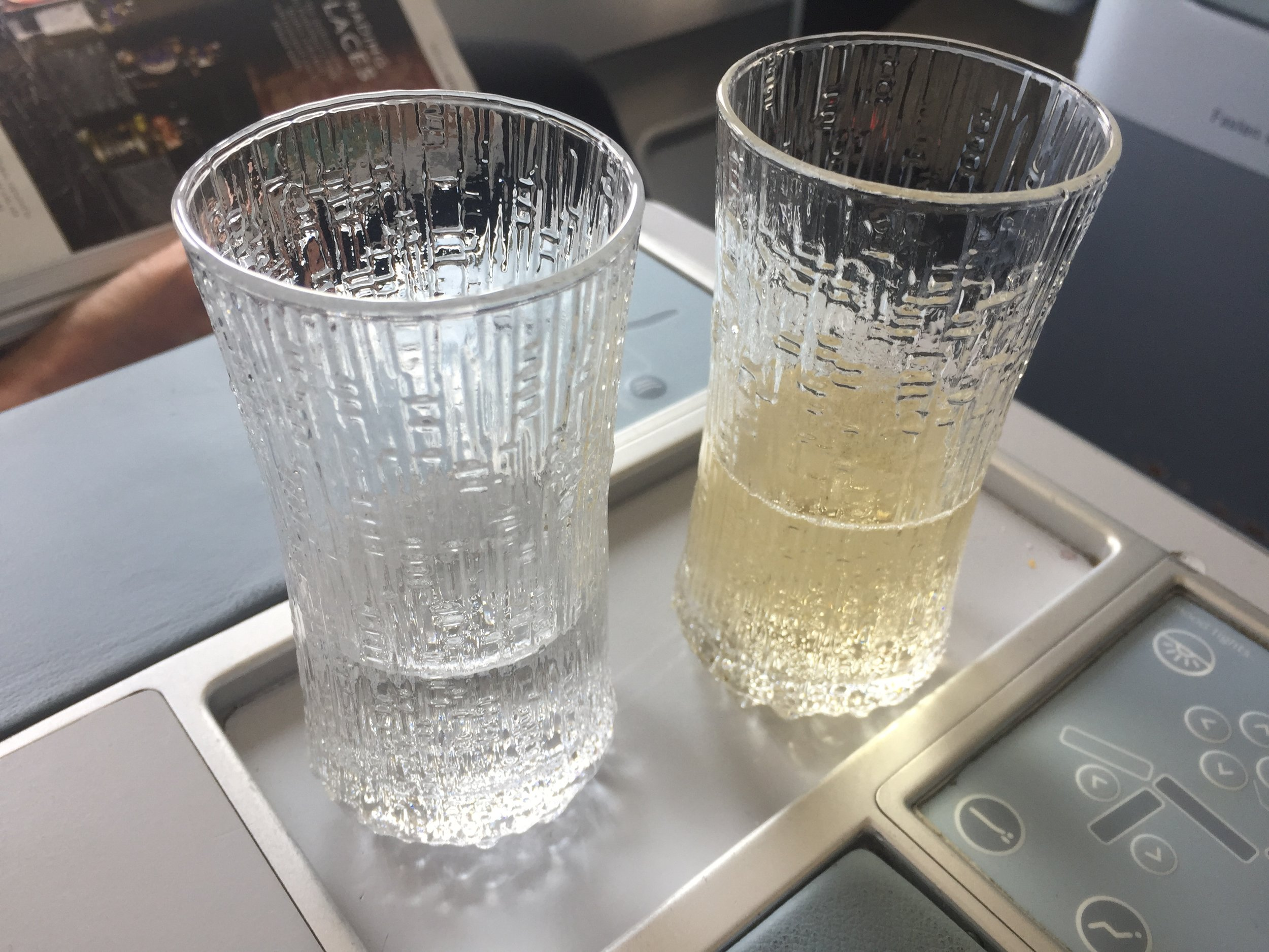 Eight of these very grown up glasses are coming home with us