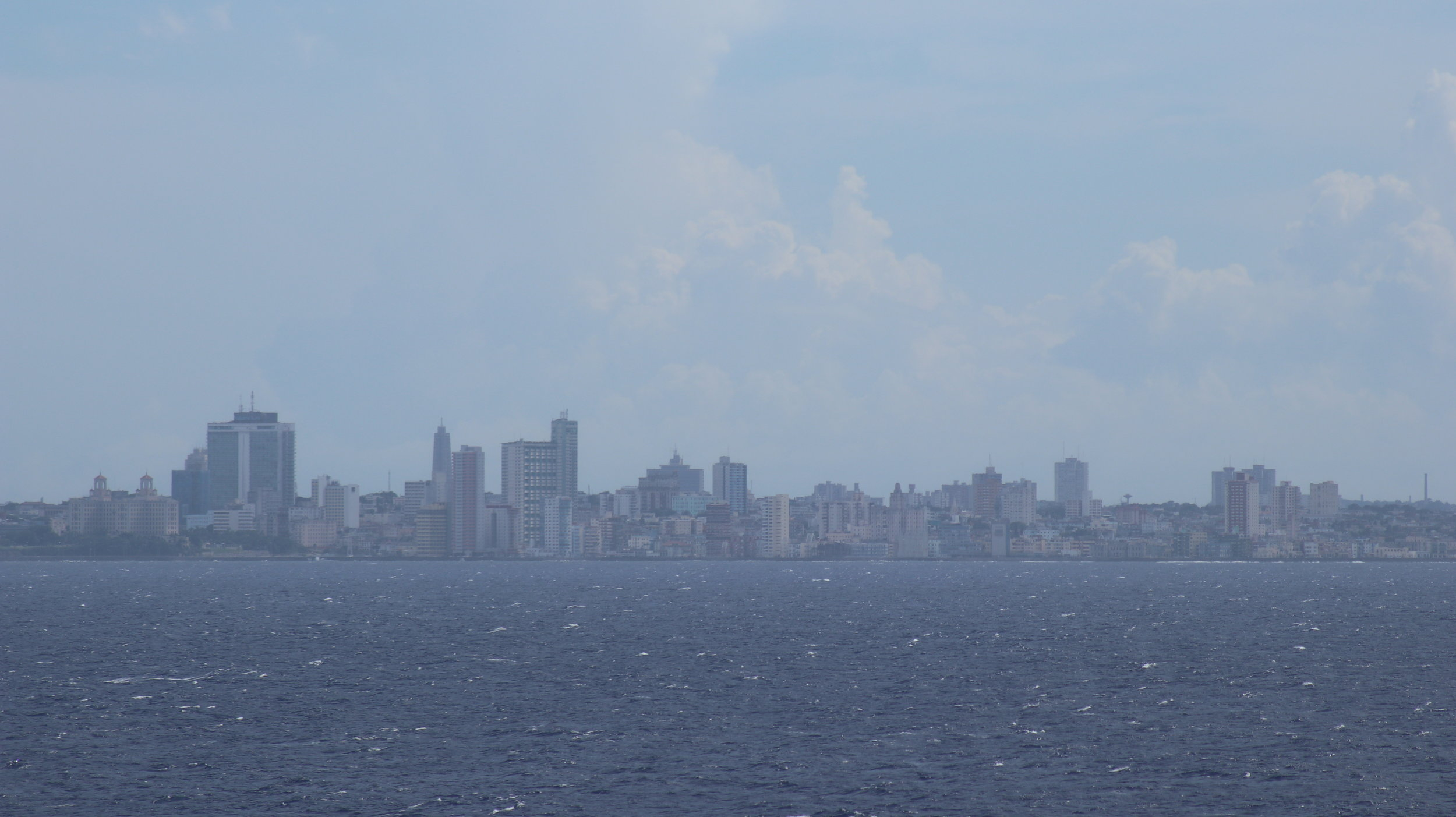 Havana is surprisingly more built up than we expected.
