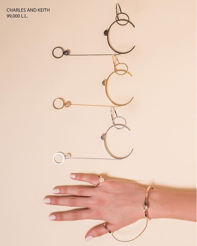 Never forget to accessorize! You can do it so effortlessly with these bracelets that link to rings on your thumb and pinky fingers. Found at Charles & Keith across Lebanon!