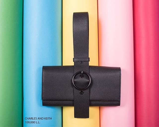 A black that goes with all the colors of the rainbow. The long handle makes it super practical to take it with you on a night out. Get your hands on this sublime essential at Charles & Keith across Lebanon. (Store locator in bio)