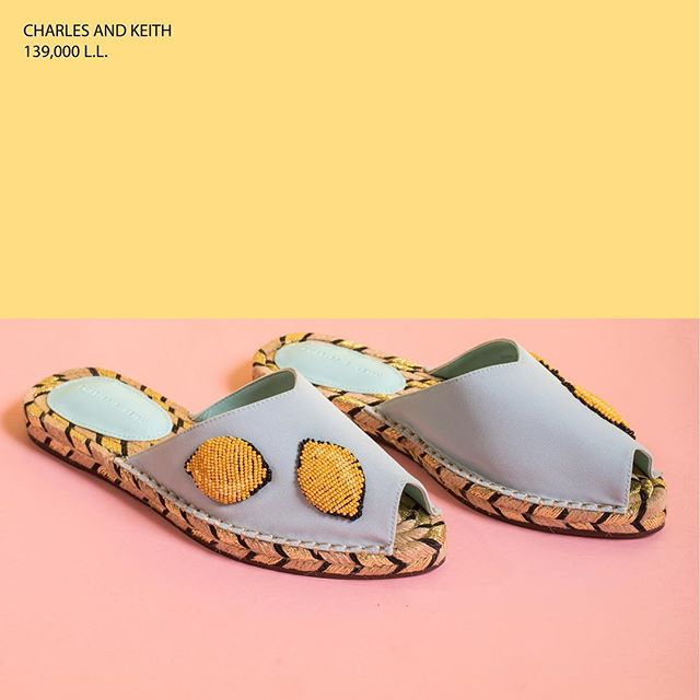 Got lemonade? Lighten up any outfit with these slip-ons and summer could last just a little longer. Available at Charles & Keith across Lebanon.