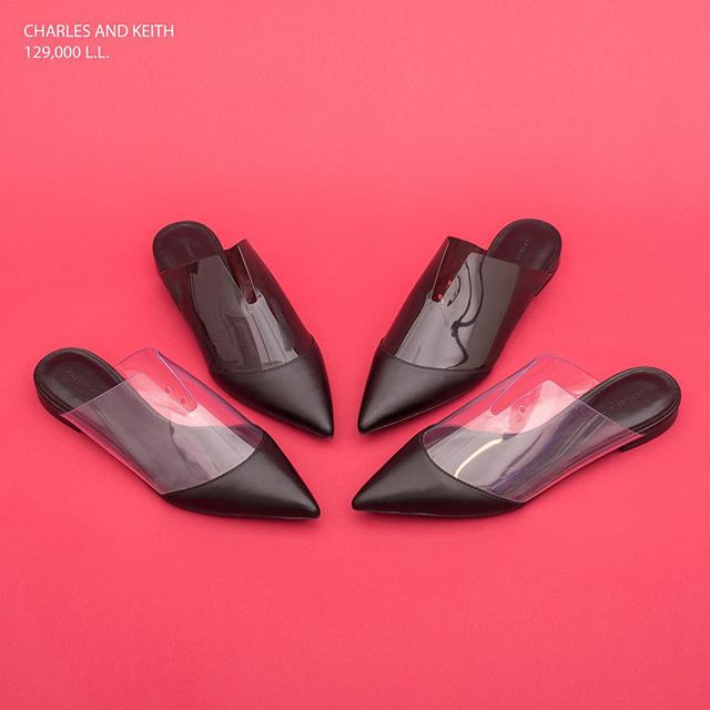 Have a bold edge in these funky mules. Perfect for the beginning of Fall. Available at Charles & Keith stores in Lebanon.