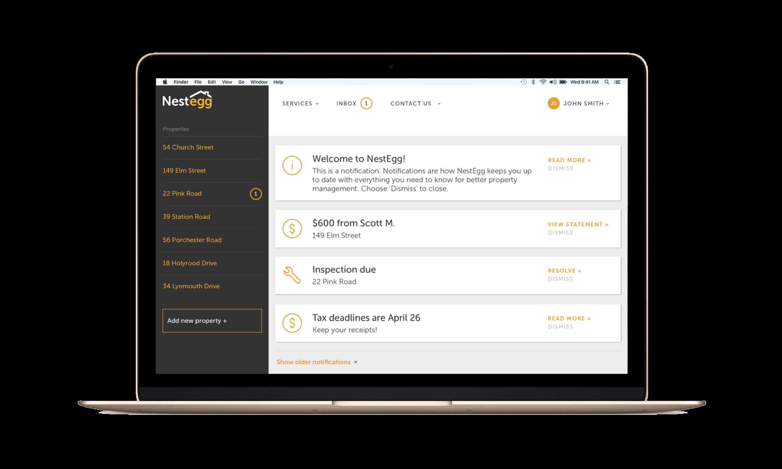 Customer Portal User Interface Web Design Kent