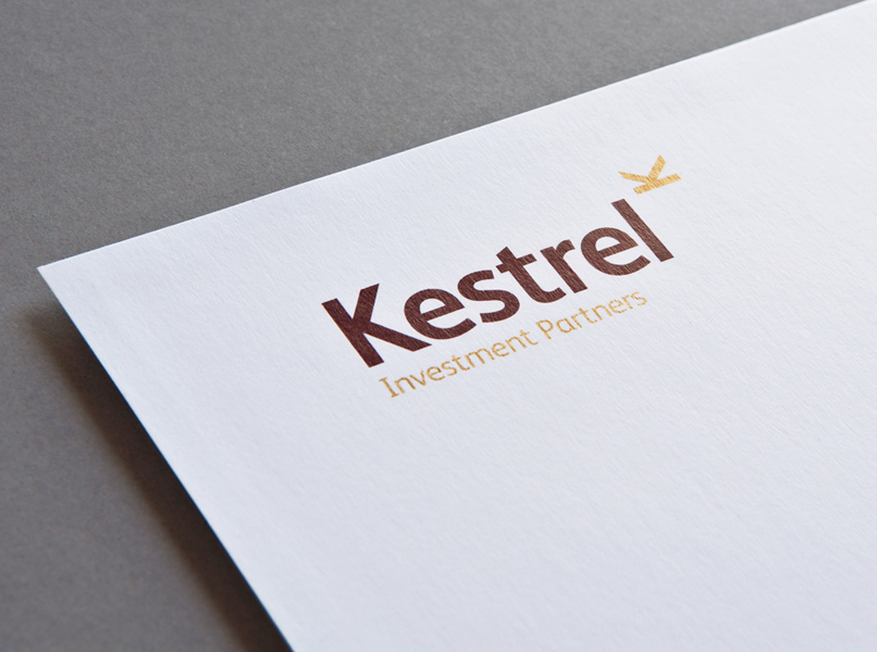 Brand Guidelines and Brand Identity, Branded Stationery - Kestrel Investment Partners