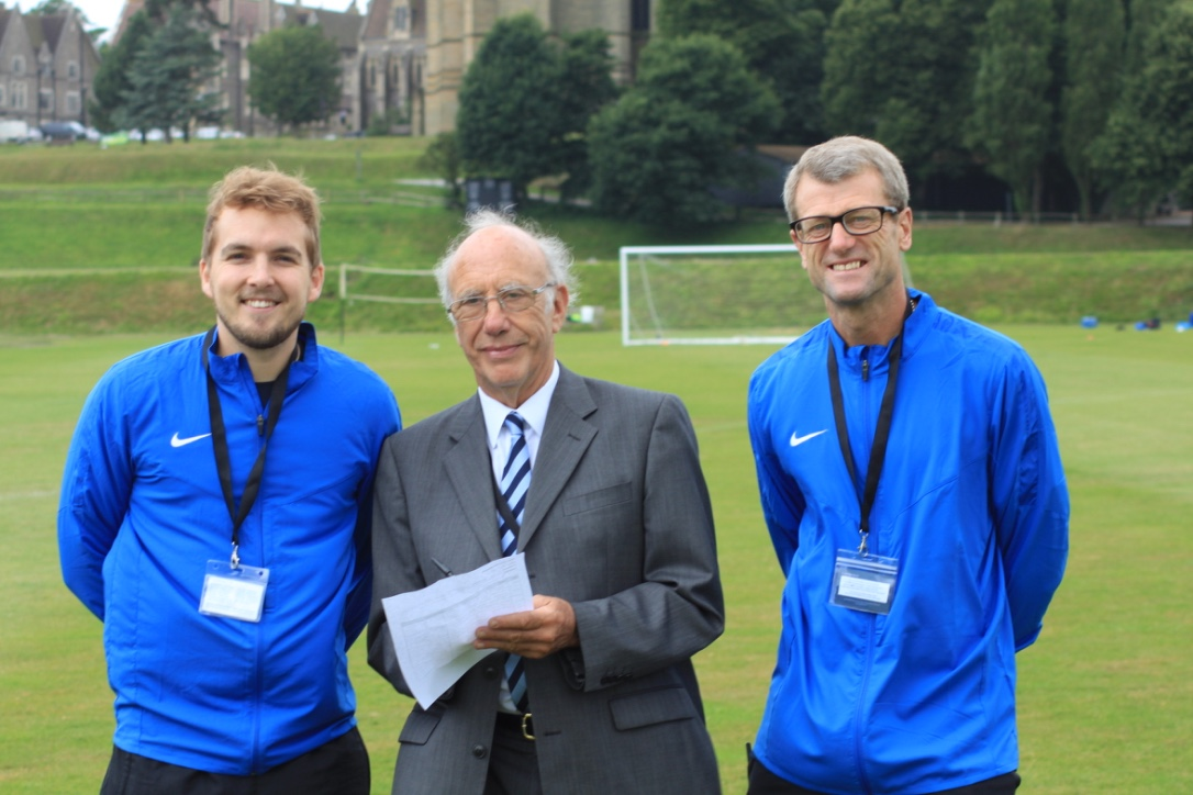 Euro Sports Camps Operations Director and Football Director with our BAC inspector