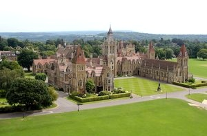 Charterhouse School exterior. nike sports camps uk venue in surrey near london