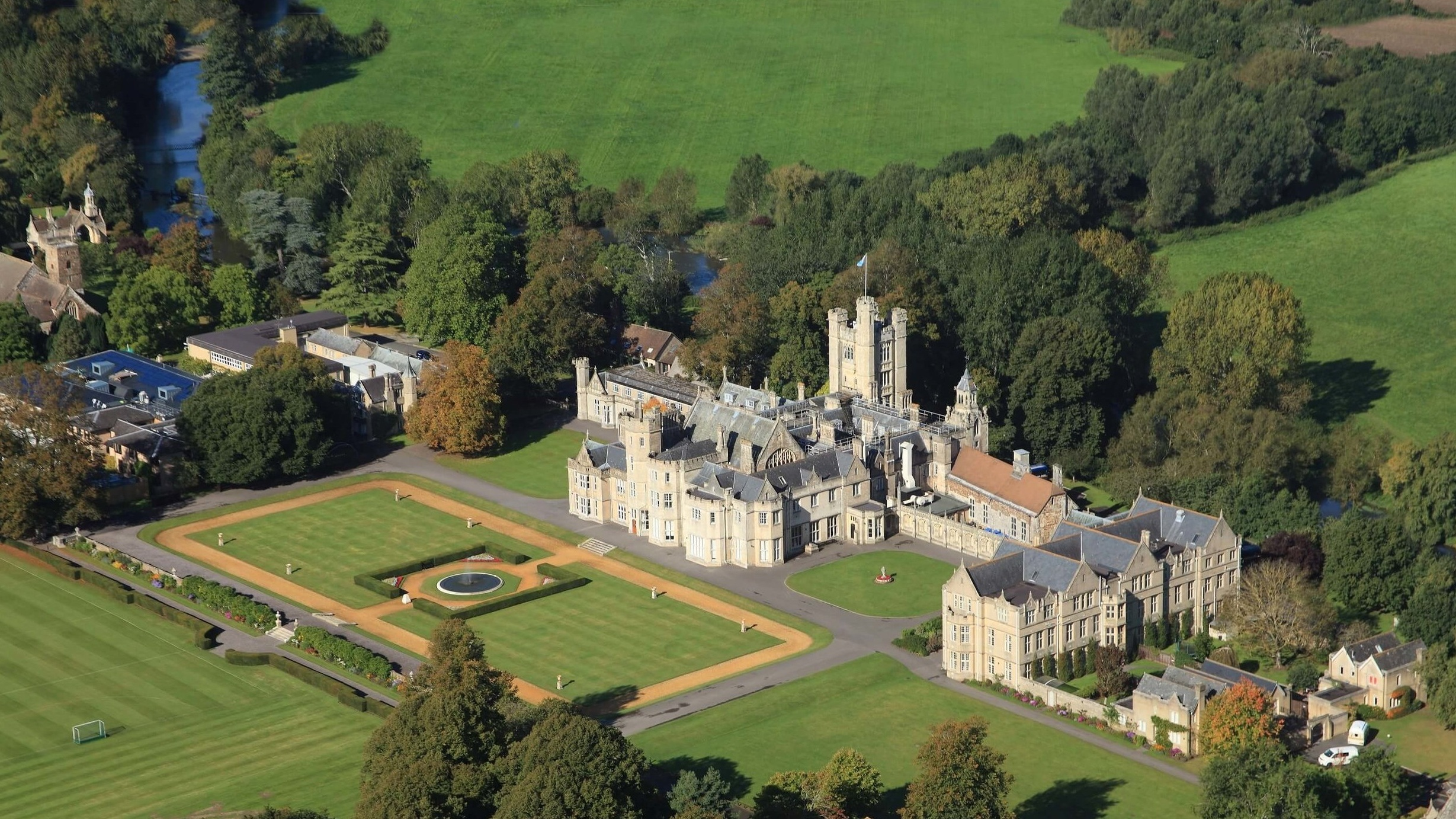 Canford SChool Aerial View
