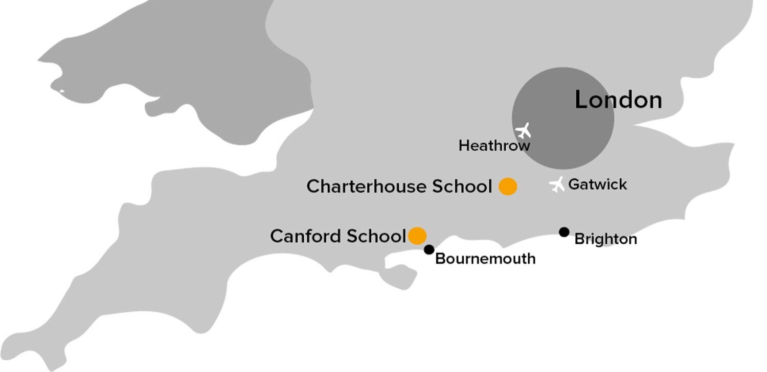 map of venues for chelsea girls football camp with nike