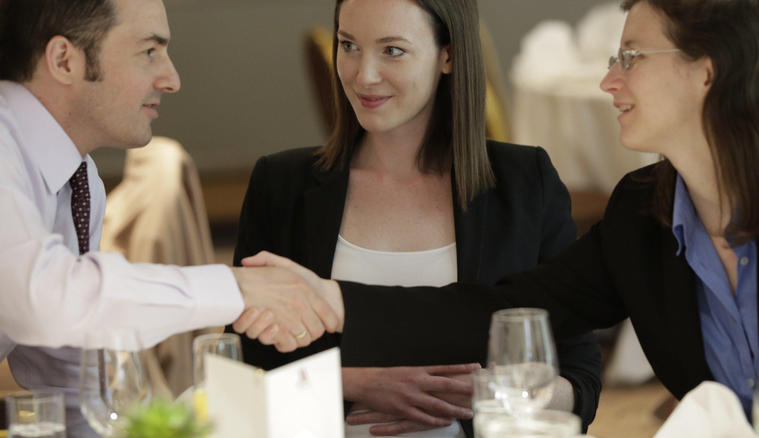 May 2015 - Business Lunch - 1st meeting: Gregory Tessler, Margaret Childs, CEO of Metropole and Andreja Mrzel, Manager at BlackLine