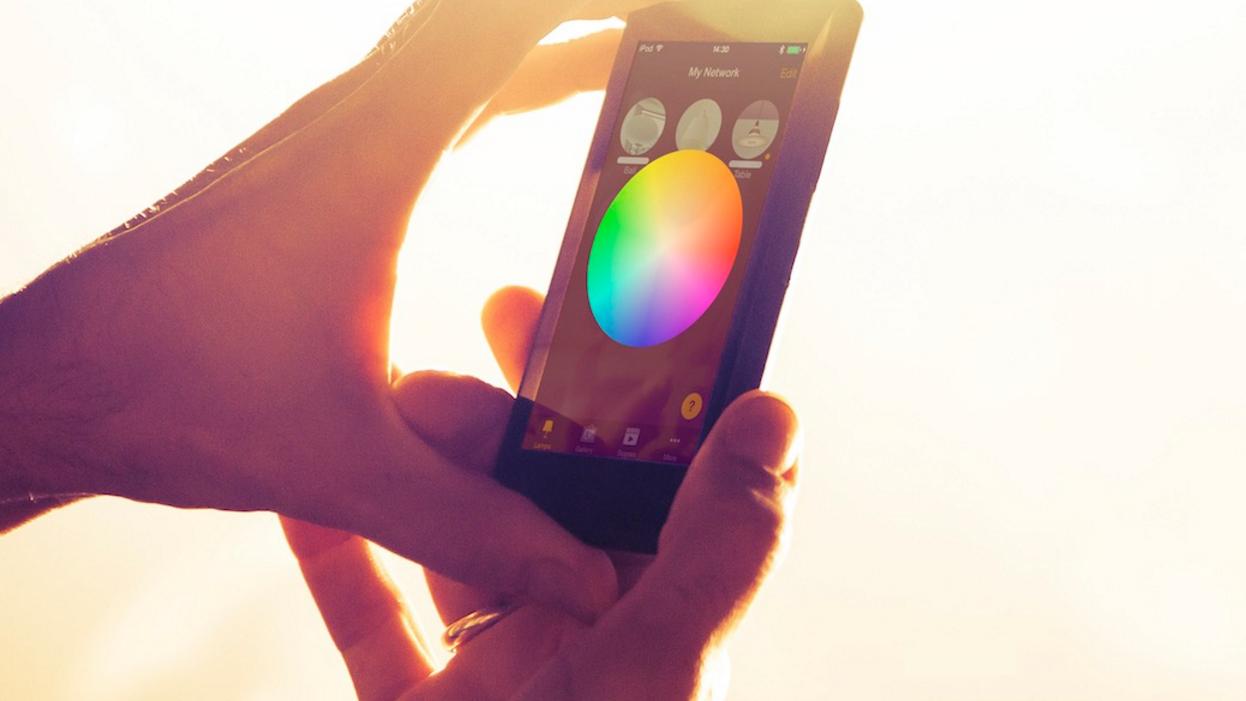 control iluminación smartphone