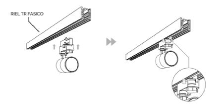 MiniTRACK TRIFASICO LED