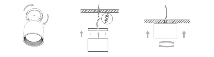 Instalación Sobrepuesto LED