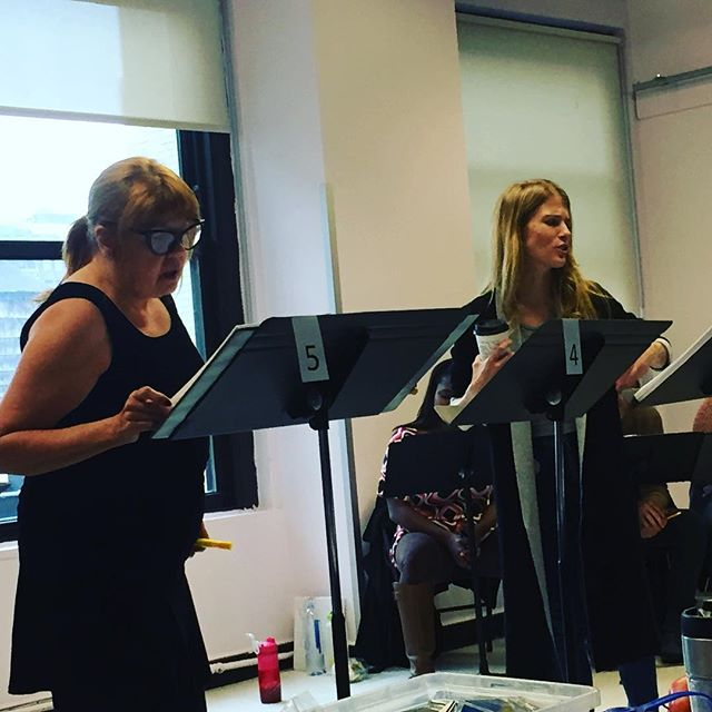 "When Annie Golden and Morgan Weed ""killed it"" during a rehearsal for last November's Wait Wait Don't Kill Me reading in NYC.  #wwdkm #memorymonday"