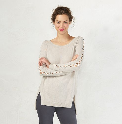 Emily Essentially | Fashion | Kohl's - LC Lauren Conrad Lace Up Sweater