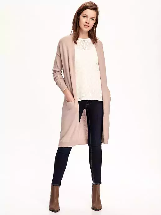 Emily Essentially | Fashion | Old Navy - Relaxed Open-Front Long Sweater