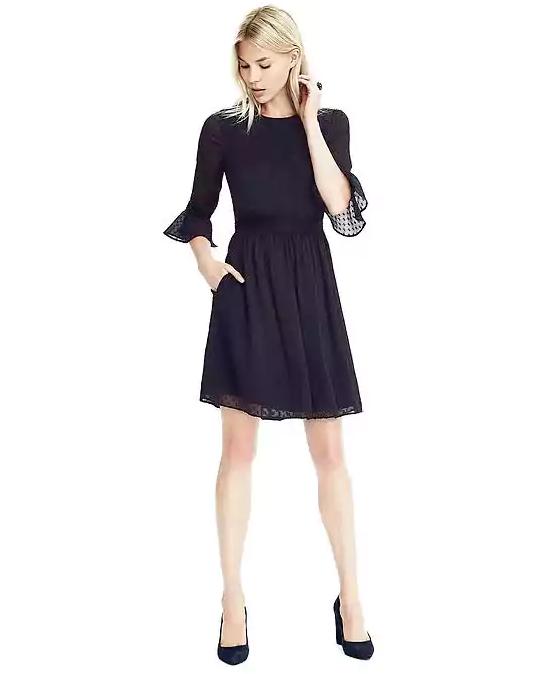 Emily Essentially | Fashion | Banana Republic - Dot Ruffle-Sleeve Dress